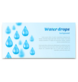 Water drops background Banner label mineral water vector image