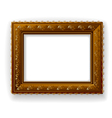 wooden vintage frame isolated vector image