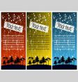 coloured banners vector image vector image