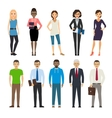 Business and casual dressed people vector image