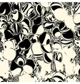 Abstract white and black background for design vector image