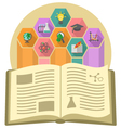Book as a Source of Knowledge vector image