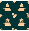 Cute vintage robot seamless background vector image