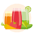 Detox cocktail with cucumber tomato and carrot vector image