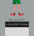 elf christmas new year card vector image