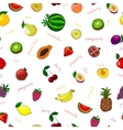Fresh fruits seamless pattern vector image