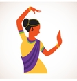 India girl wearing traditional clothing dancing vector image