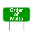 Order of Malta road sign vector image