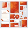 Red set layout of corporate identity vector image