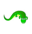 Single crocodile on white background vector image