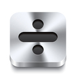 Square metal button perspektive - minus icon vector image