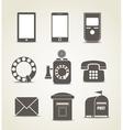 Telecommunicating icons vector image