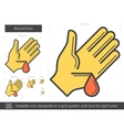 Wound line icon vector image