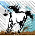 horse grunge design vector image vector image