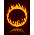 fiery ring vector image
