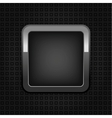 chrome web button vector image