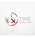abstract logo idea time concept or clock vector image