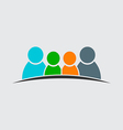 Teamwork Family Logo Four members image vector image vector image