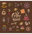 Coffee Doodle Icon Set vector image
