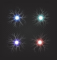 colorful fireballs isolated set vector image