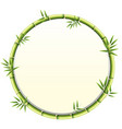 curved bamboo frame design vector image