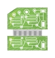 drawing computer hardware processor card vector image