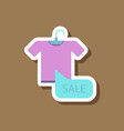 fashion patch sale sticker t-shirt vector image