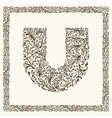 Ornamental letter for your design vector image