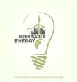 renewable energy wind turbine in bulb the concept vector image