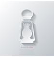 Retro oil lamp icon vector image