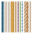 Ropes set Cartoon isolated on vector image