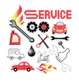 set of service cars vector image
