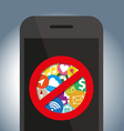 Signes icon do not use on mobile phone vector image