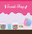 sweet shop vector image