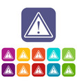 warning attention sign with exclamation mark icons vector image
