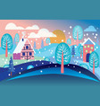 winter landscape background vector image