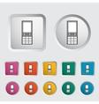Phone single icon vector image