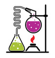 Chemical experiment set vector