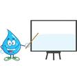 Water droplet cartoon character teaching vector image vector image