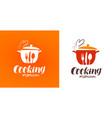 cooking cuisine cookery logo restaurant menu vector image