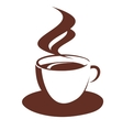 Doodle sketch of steaming coffee cup vector image vector image