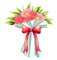 A boquet of pink flowers vector image vector image