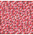 Mosaic of triangles in shades of red vector image vector image