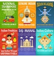India Poster Set vector image