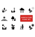 agriculture set with red accent vector image