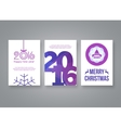 Happy new year 2016 and Merry Christmas vector image