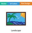 Landscape art icon vector image vector image
