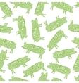 American cuts of pork seamless pattern vector image
