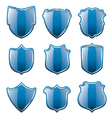 blue shields vector image