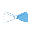 bowtie elegance hipster wear icon vector image